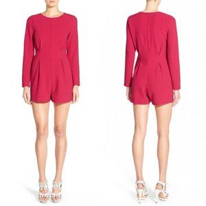 LUCCA COUTURE NWOT Long Sleeve Romper Cerise M